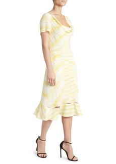 Altuzarra Cowlneck Stripe Dress