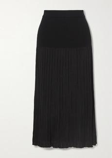 Altuzarra Dean Pleated Stretch-knit Midi Skirt