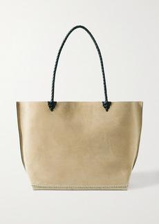 Altuzarra Espadrille Large Leather And Jute-trimmed Suede Tote