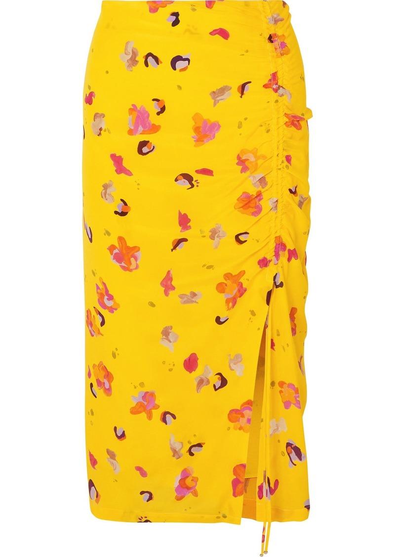 Altuzarra Fausto Printed Silk Crepe De Chine Midi Skirt