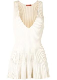 Altuzarra flared ribbed-knit vest top