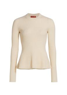 Altuzarra Frankie Cashmere Ribbed Flare Sweater