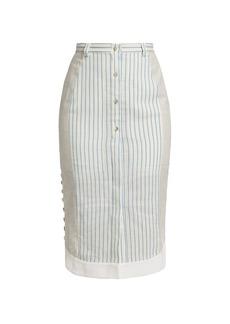 Altuzarra Ganrance Pinstripe Button Skirt