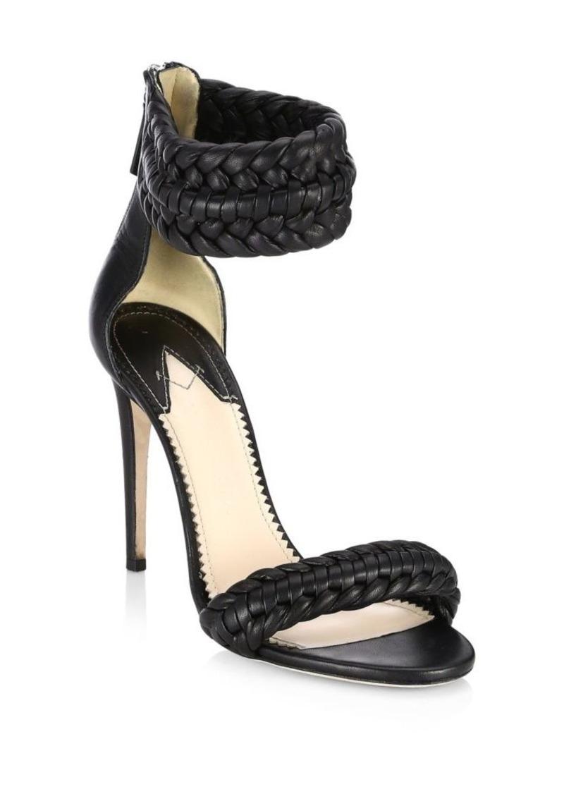 52f5fbdfb183d Altuzarra Ghianda Braided Leather Stiletto Sandals | Shoes