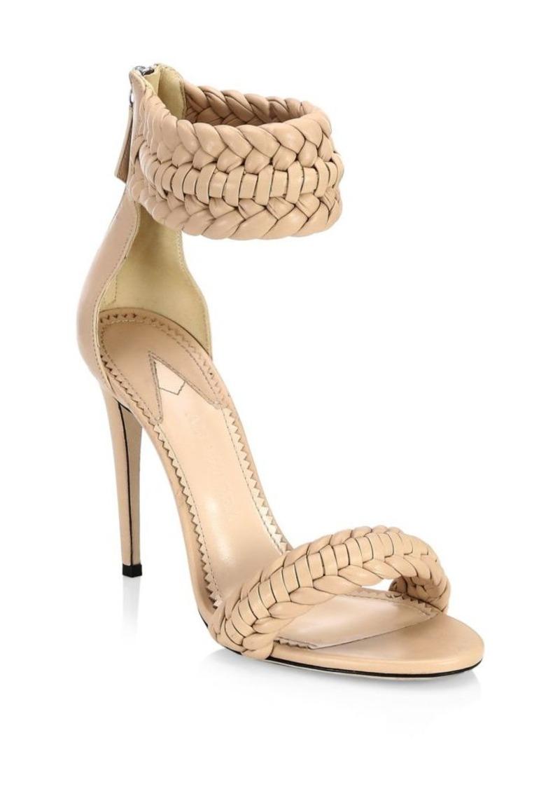b0e547ed79212 Altuzarra Ghianda Braided Leather Stiletto Sandals Now $398.00