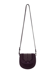 Altuzarra Ghianda Mini Suede Saddle Shoulder Bag
