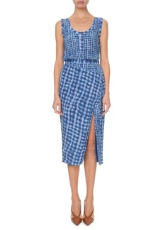 Altuzarra Gingham Sleeveless Shirtdress