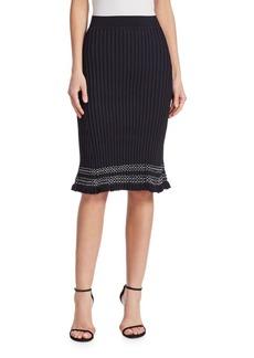 Gwendolyn Contrast Trim Knit Skirt