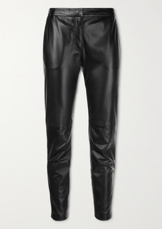 Altuzarra Henri Cropped Leather Slim-leg Pants