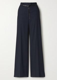 Altuzarra Jess Belted Flannel Wide-leg Pants