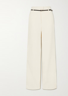 Altuzarra Jess Belted Wool-crepe Wide-leg Pants