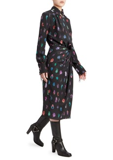 Altuzarra Kat Printed Silk Wrap Dress