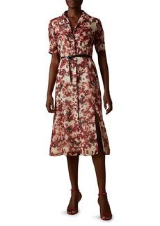 Altuzarra Kieran Short-Sleeve Floral Shirtdress