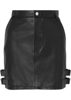 Altuzarra Lawrence Buckled Leather Mini Skirt