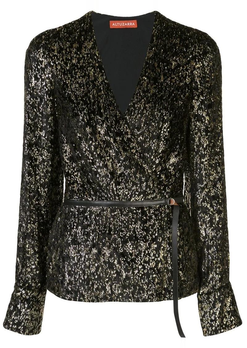 Altuzarra leopard print wrap blouse