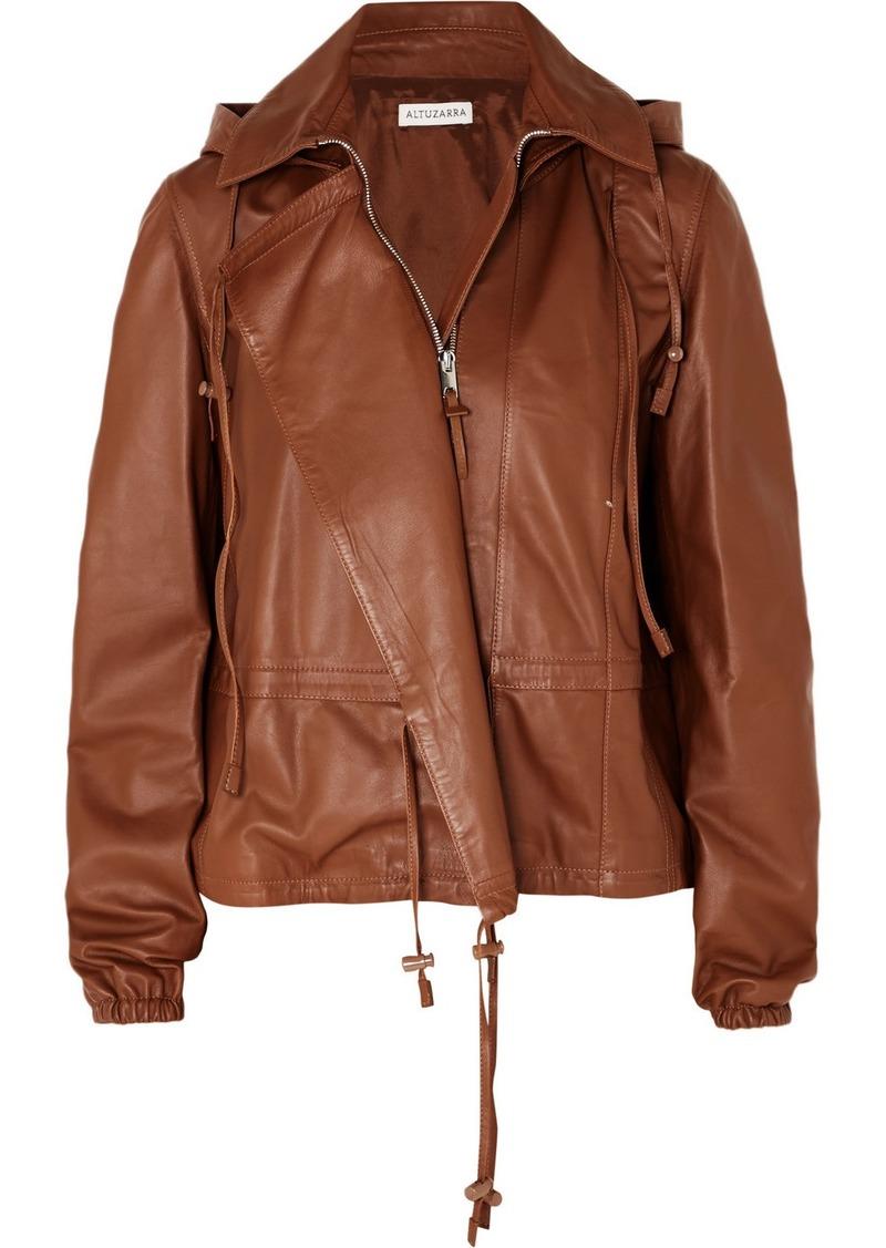 Altuzarra Livila Hooded Leather Jacket