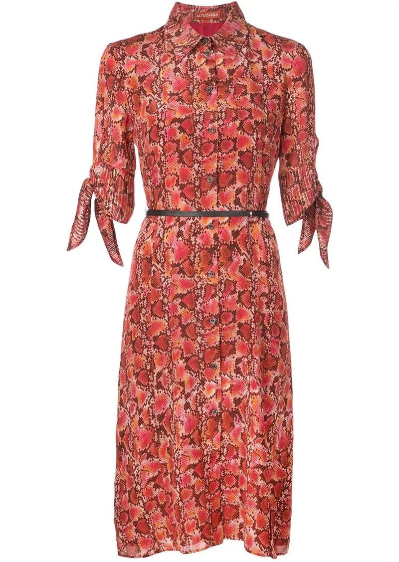 Altuzarra Narcissa snake-effect midi dress
