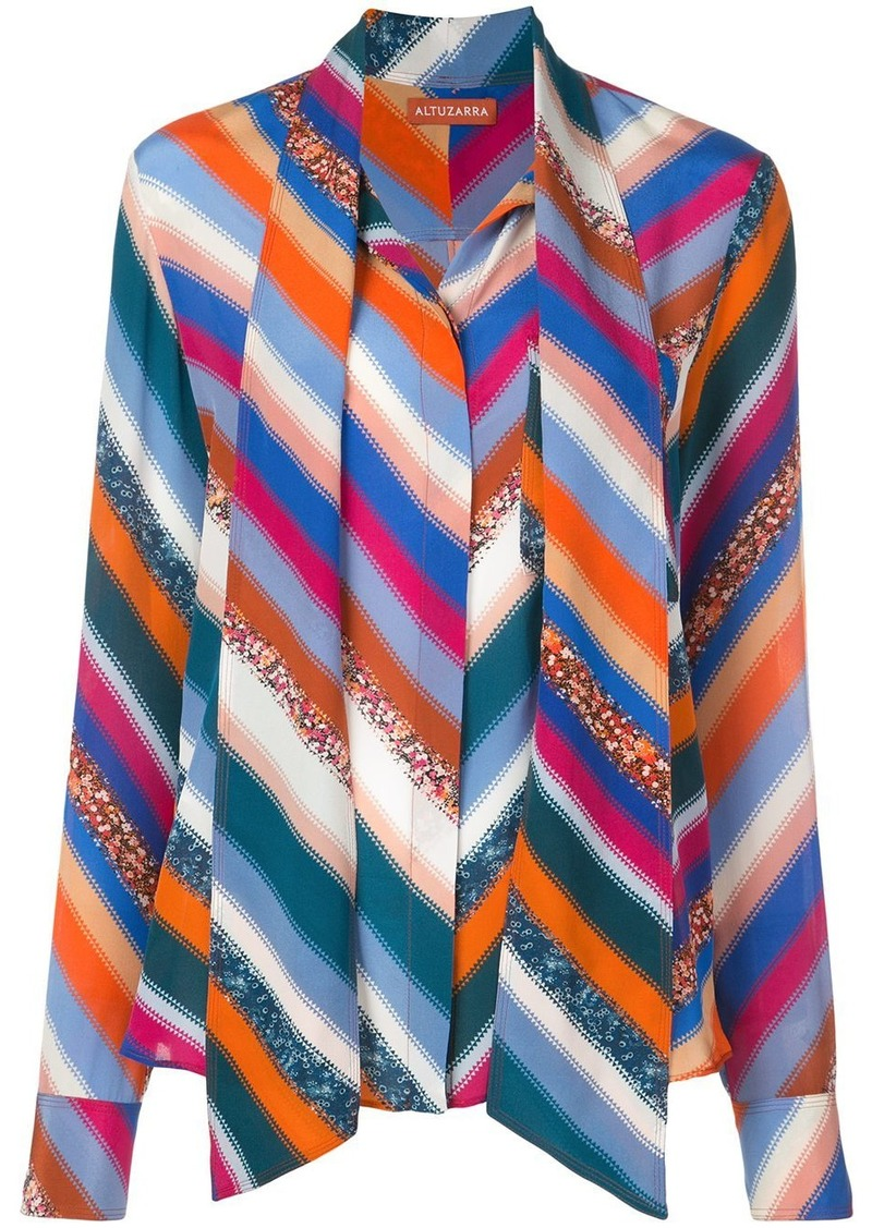 Altuzarra Newberry chevron-print blouse