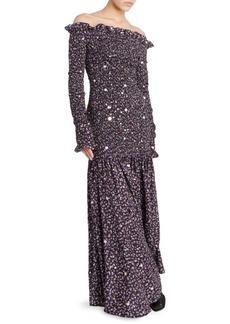 Altuzarra Oroshi Off-The-Shoulder Gown