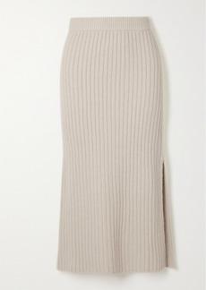 Altuzarra Orville Ribbed-knit Midi Skirt