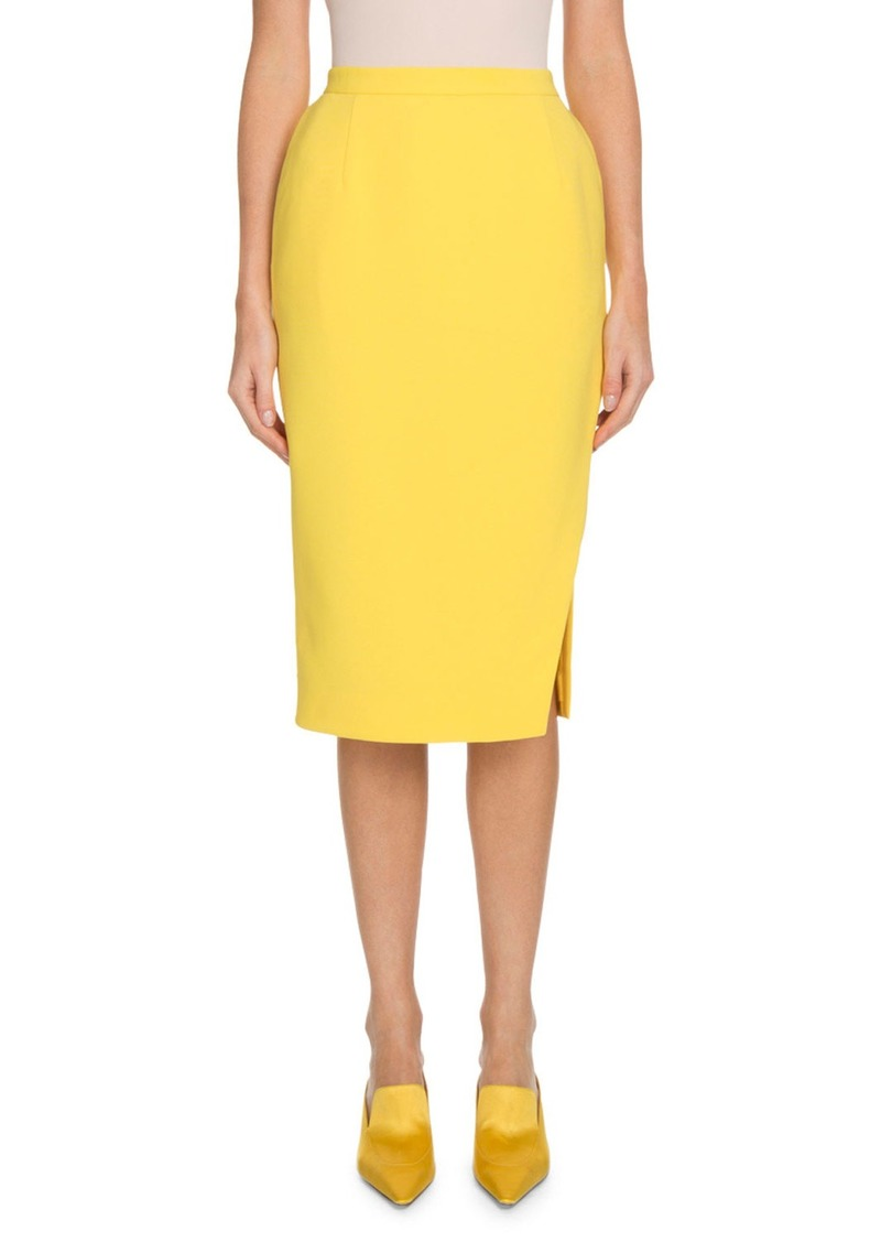 Altuzarra Pencil Crepe Knee-Length Skirt