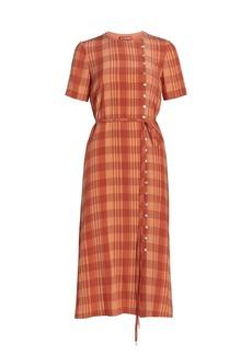 Altuzarra Picotee Checkered Midi Dress