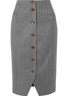 Altuzarra Pinstriped Wool-blend Pencil Skirt