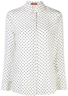 Altuzarra polka dot button up shirt
