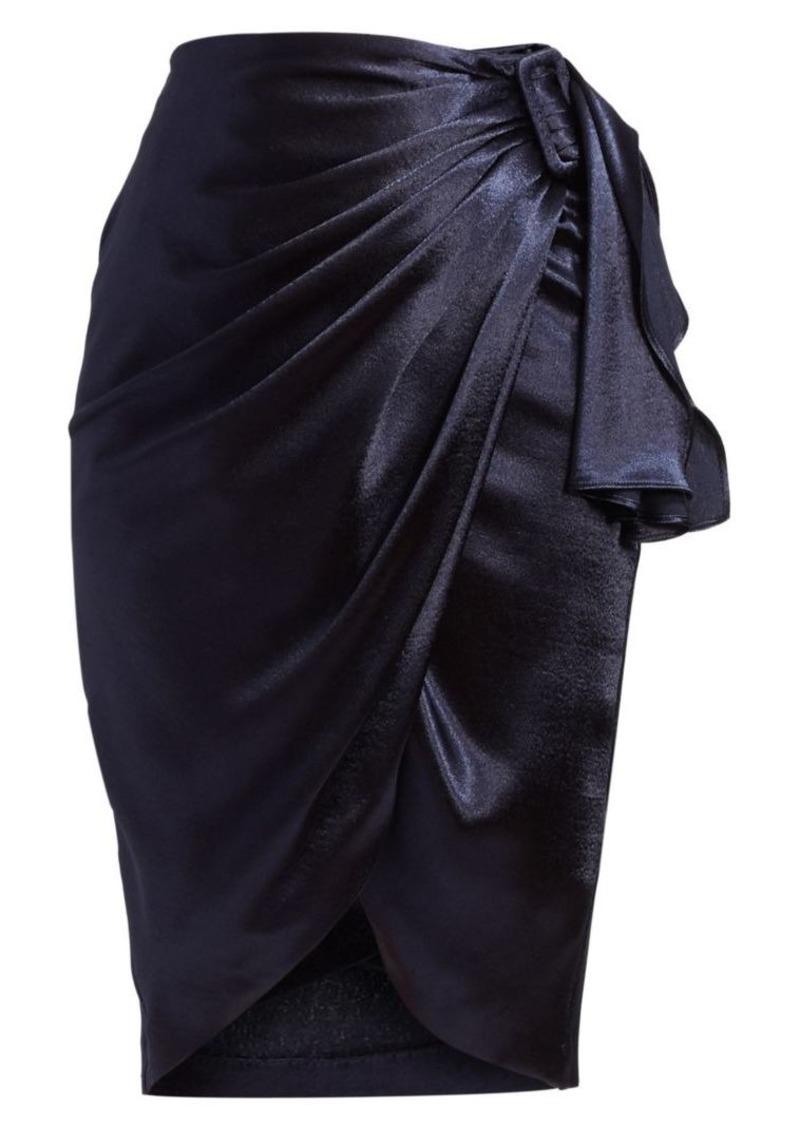 Altuzarra Polly Satin Wrap Skirt