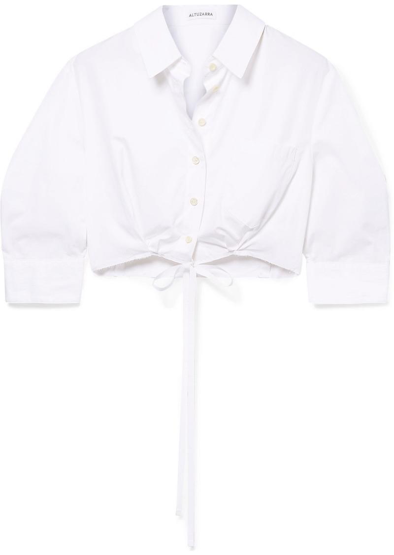Altuzarra Rosa Cropped Cotton-poplin Shirt