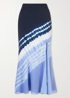 Altuzarra Sachiko Tie-dyed Silk Crepe De Chine Midi Skirt