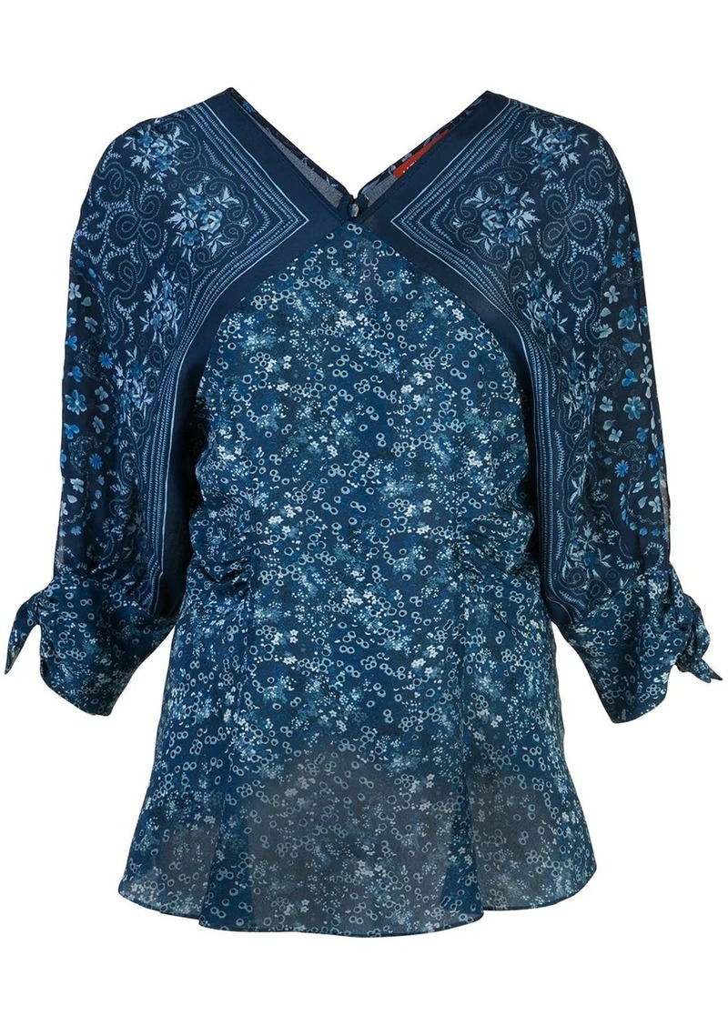 Altuzarra silk bandana print blouse