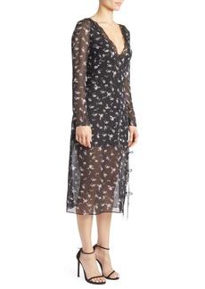 Altuzarra Silk Floral Print Lace Dress