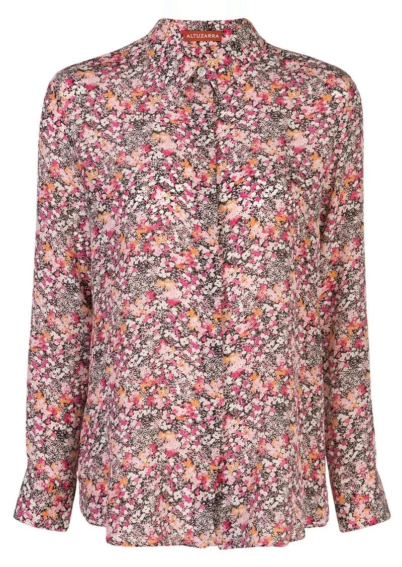 Altuzarra silk floral print shirt