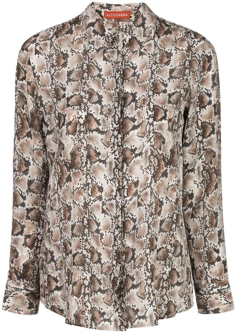 Altuzarra silk snake print shirt