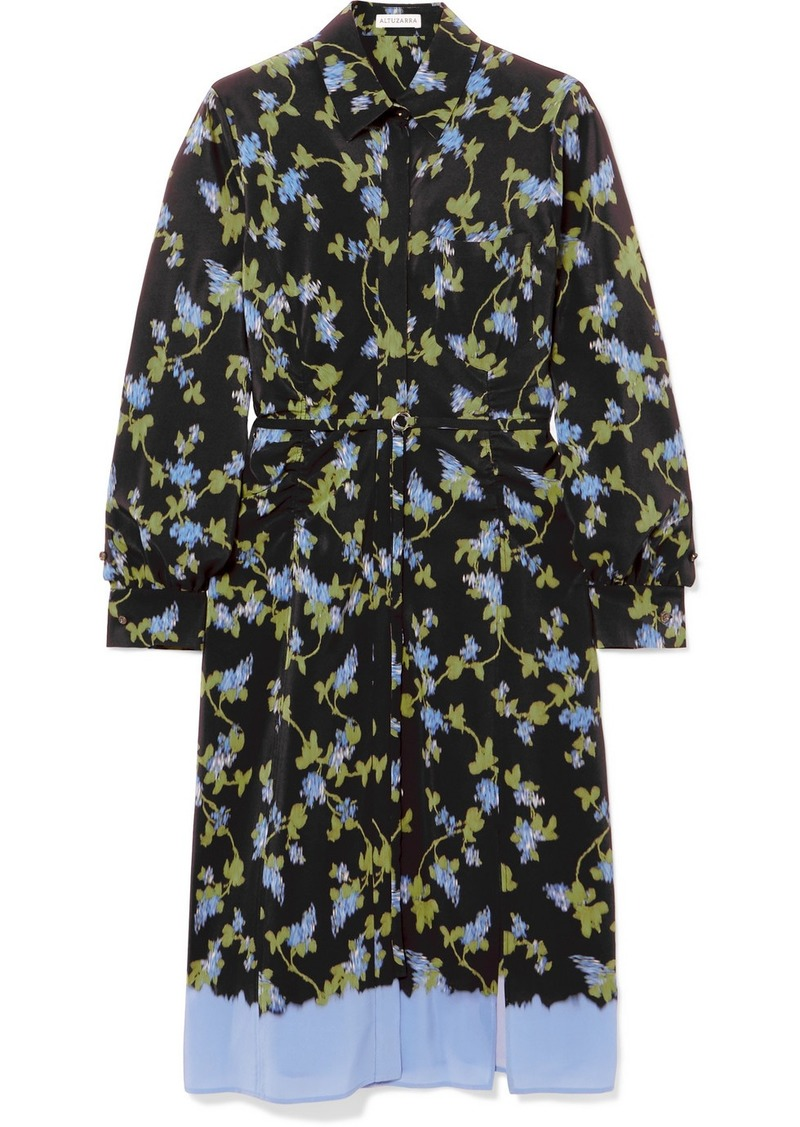 Altuzarra Strada Floral-print Silk Crepe De Chine Dress