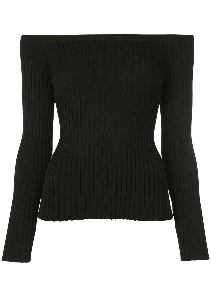 Altuzarra Streetwater ribbed off-the-shoulder top