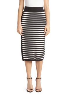 Altuzarra Striped Button-Up Skirt