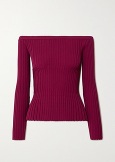 Altuzarra Sweetwater Ribbed-knit Off-the-shoulder Top
