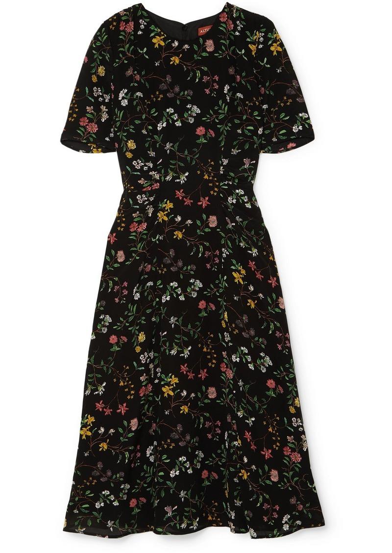 Altuzarra Sylvia Floral-print Silk Crepe De Chine Midi Dress
