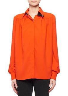 Altuzarra Tamar Long-Sleeve Button-Front Shirred-Back Shirt
