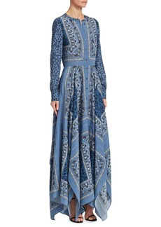 Altuzarra Tamourine Printed Silk Maxi Dress