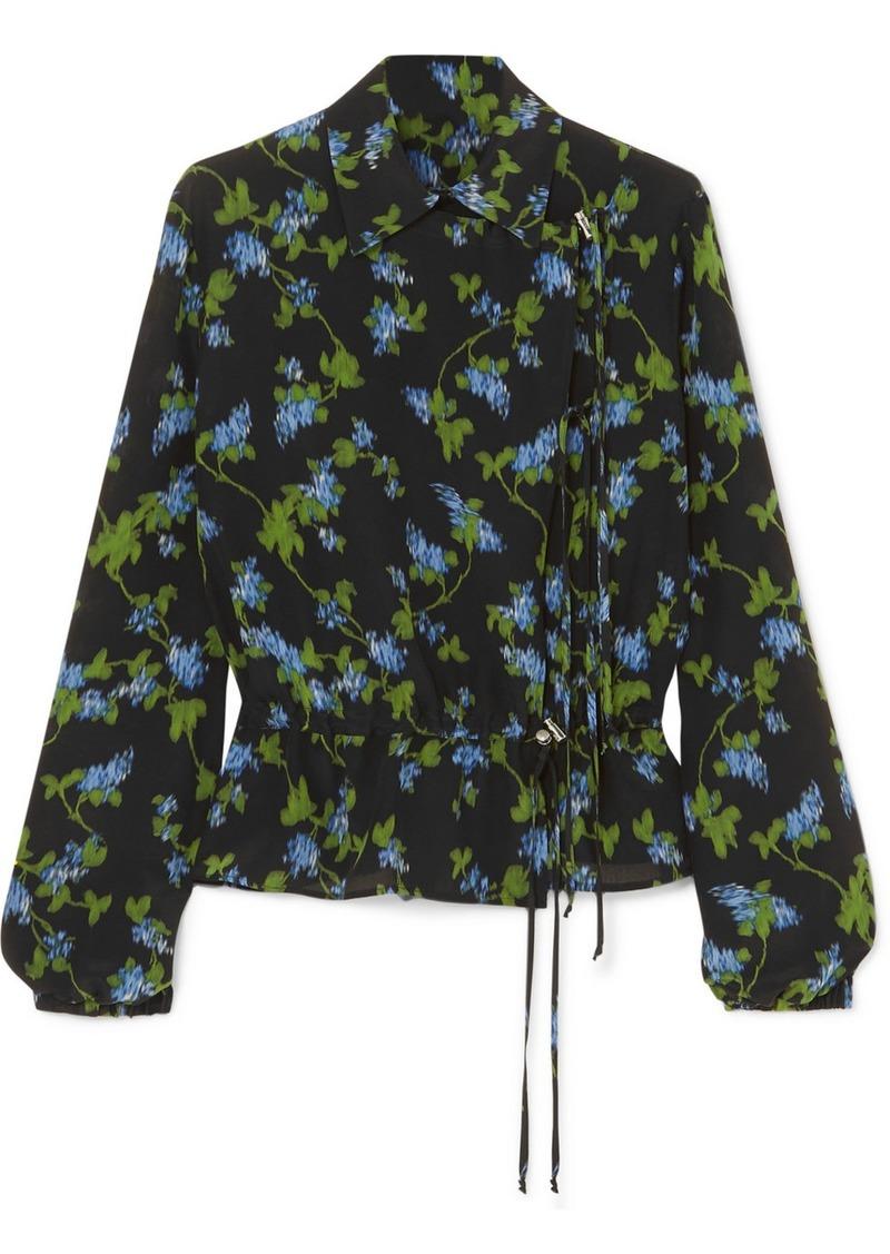 Altuzarra Terese Floral-print Silk Crepe De Chine Blouse