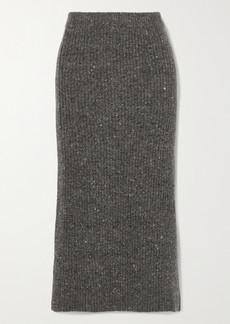 Altuzarra Tony Ribbed Wool And Cashmere-blend Midi Skirt