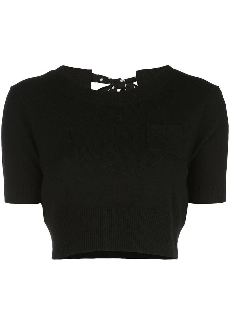 Altuzarra Tuileries cropped knit top