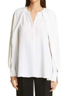 Women's Altuzarra Celandine Cape Sleeve Button-Up Blouse