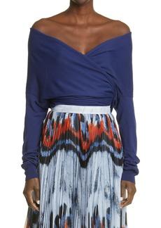 Women's Altuzarra Crawley Off The Shoulder Wrap Sweater