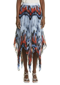 Women's Altuzarra Isobel Butterfly Asymmetrical Pleat Georgette Skirt
