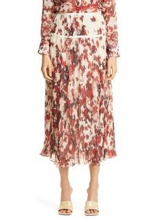 Women's Altuzarra Kemmaren Floral Pleated Georgette Skirt