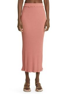 Women's Altuzarra Turley Rib Ruffle Knit Skirt